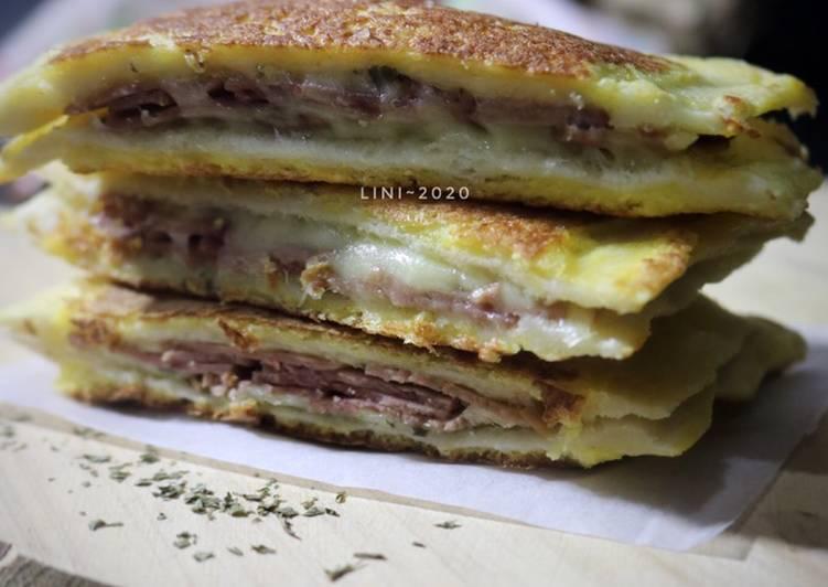 Melted Ham Sandwich - menu sarapan kilat dan enak