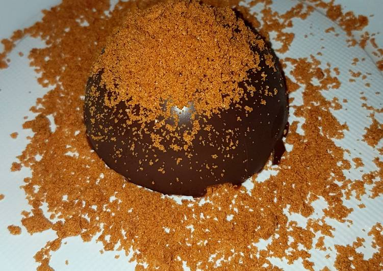 Dôme chocolat et spéculoos