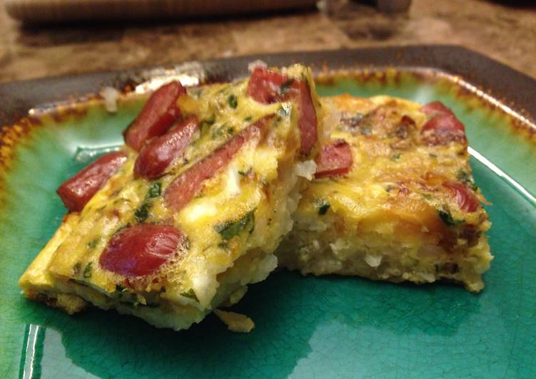 Recipe: Yummy Baked Omelet With Hashbrowns