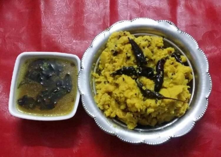 My Daughter love Andhra Style Mudda Pappu