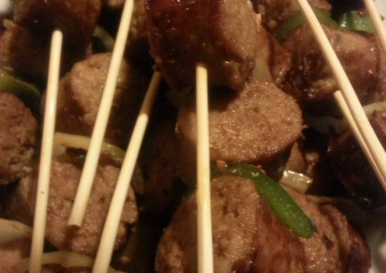 Italian sausage kabobs