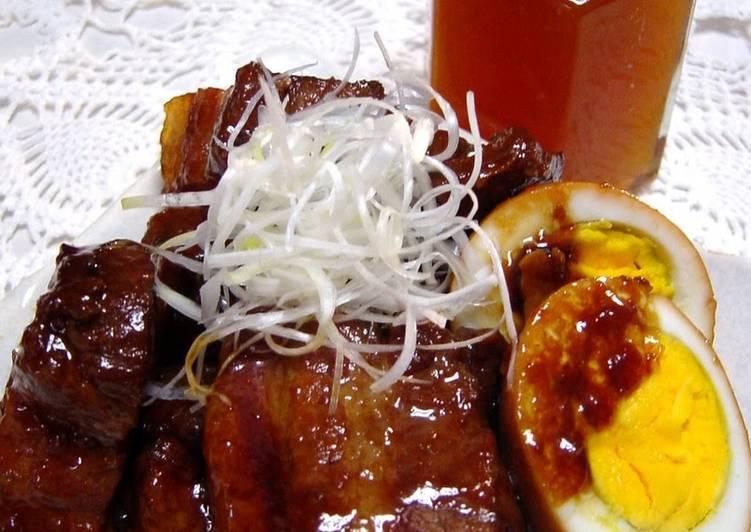 How to Prepare Homemade Pork Belly Simmered with Ume Jam and Honey