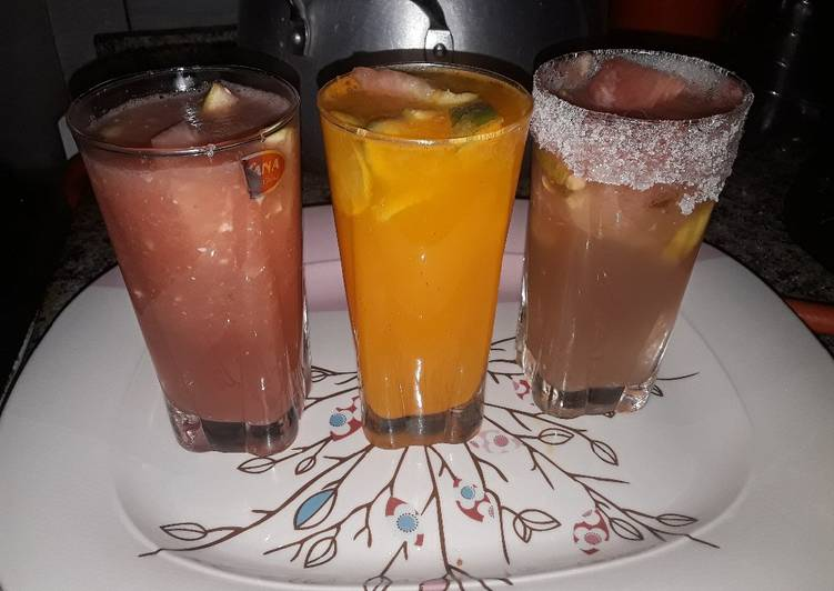 Refreshing drinks,orange,watermelon and orangewatermelon sangria