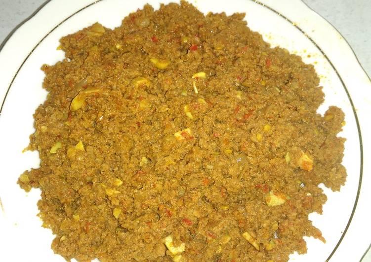 Daging Kari untuk Isi Samosa
