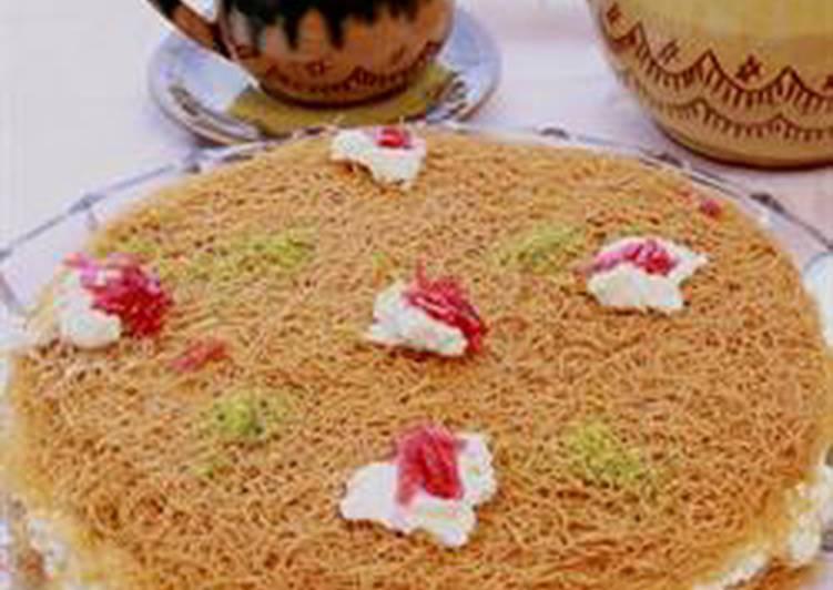 Roasted vermicelli with ashta cream - osmalieh