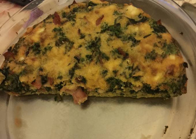 Bacon And Spinach Crustless Quiche