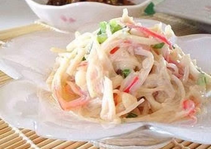 Comforting Enoki Mushrooms and Surimi Salad