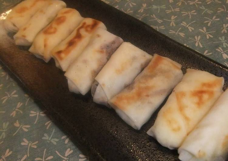 Step-by-Step Guide to Prepare Homemade Easy Spring Rolls with Nori Tsukudani and Okara