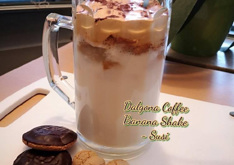 Dalgona Coffee Banana Shake