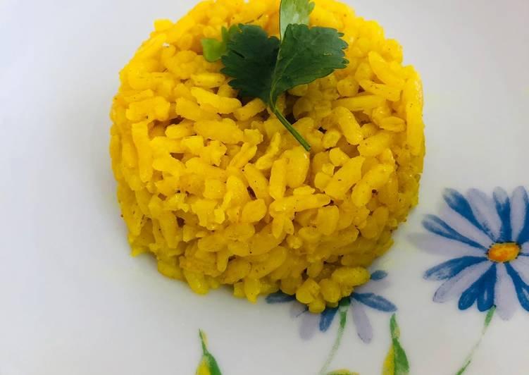 Arroz amarillo con cúrcuma y curry