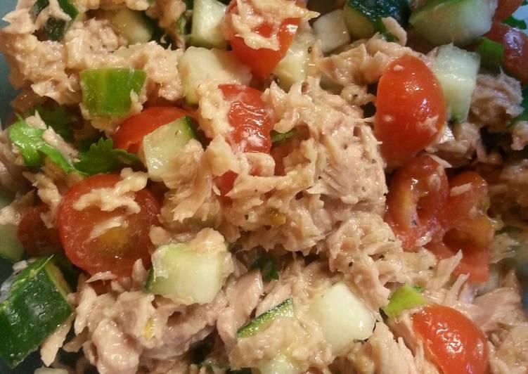 Healthy Cilantro Lime Tuna Salad