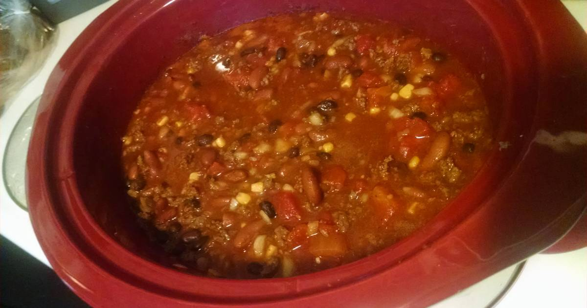 Delicious crock-pot deer meat chili.