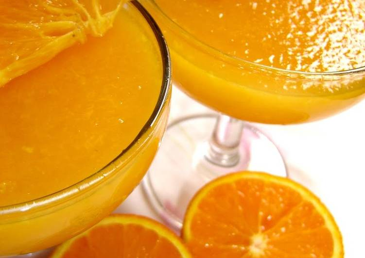 Steps to Make Ultimate Easy Microwaved Fresh Orange Jello