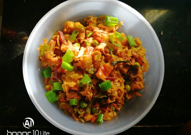 Recipe of Quick Cabbage curry