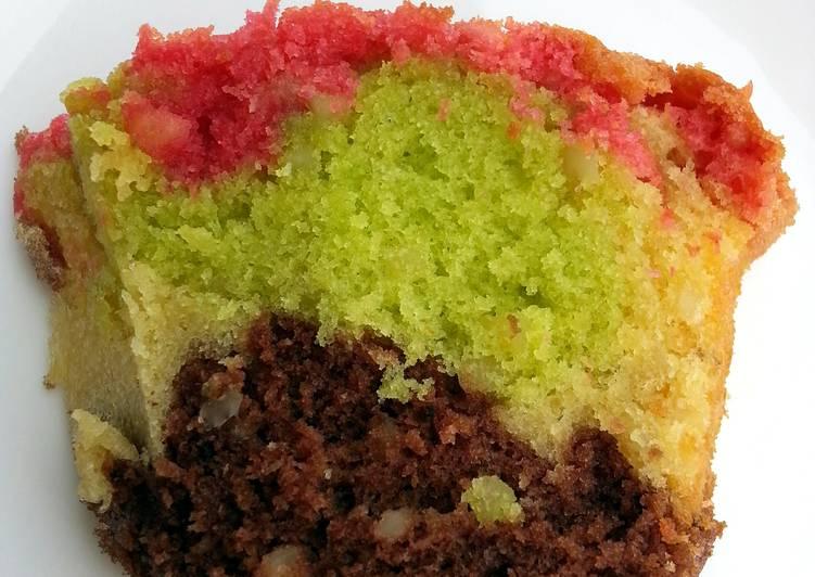 Recipe of Speedy Almond Rainbow Cake
