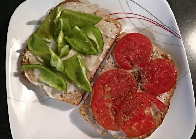 TX's Style ~ Tomato ~n~ Bell Pepper Sandwich