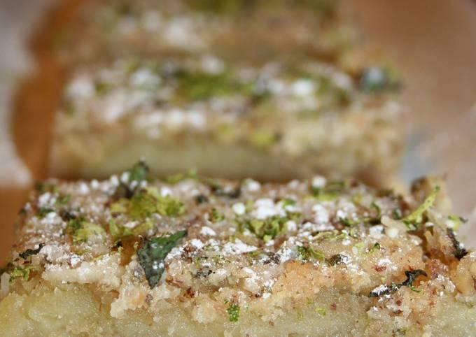 Pecan-Crusted Mojito Bars