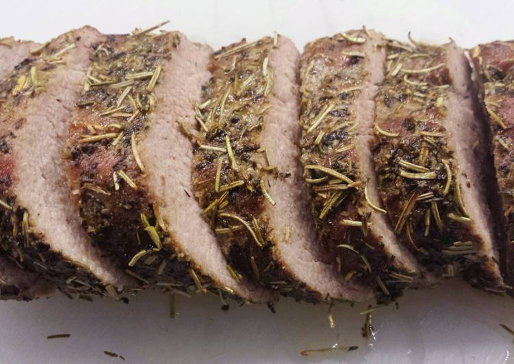 Easiest Way to Prepare Super Quick Homemade Herb Crusted Pork Tenderloin