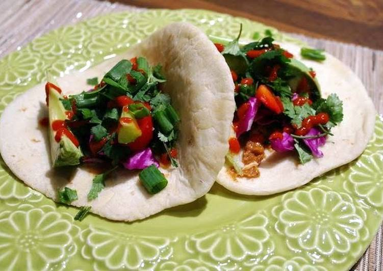 Steps to Prepare Award-winning Sriracha Peanut Veggie Wraps