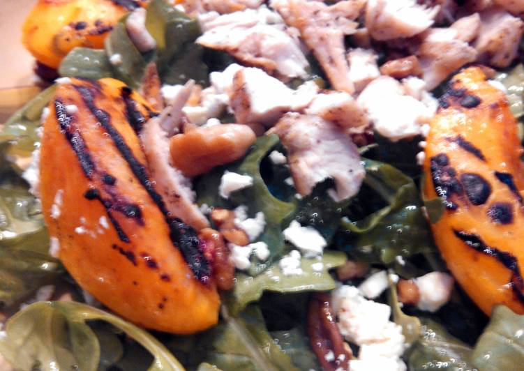 Grilled Chicken & Peach Salad w/ Sweet Tea Vinaigrette