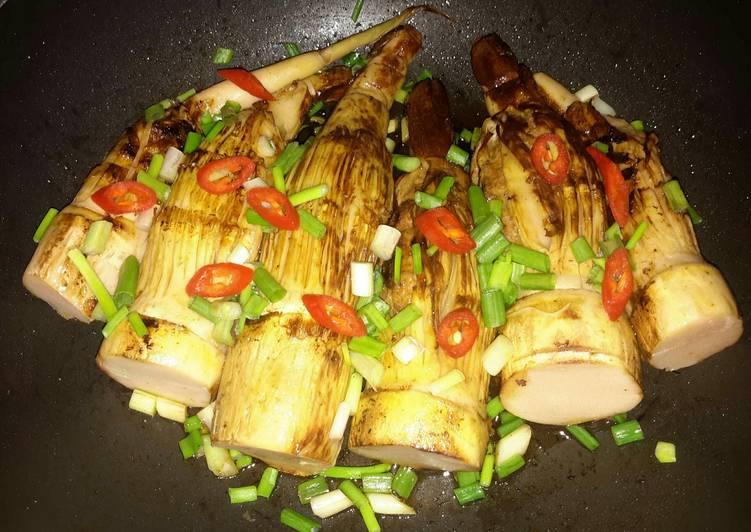 15 Minute Recipe of Super Quick Homemade Kanya's Stuffed Bamboo Shoots