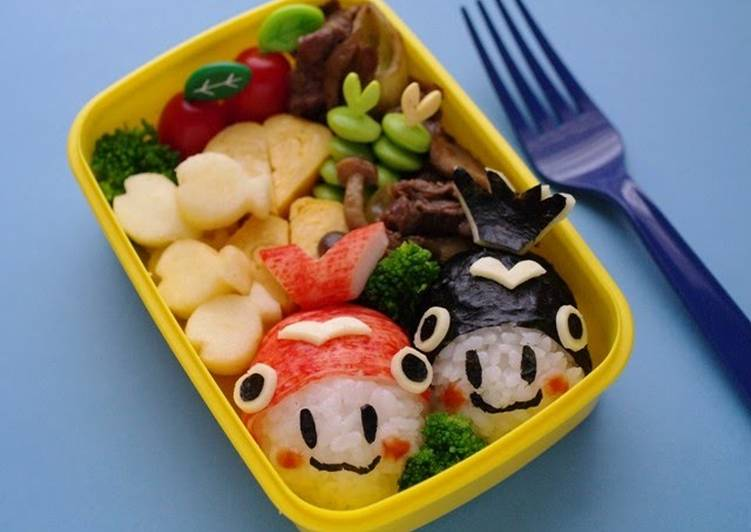 How to Improve Your Mood with Food Goldfish Character Onigiri Bento -  For My Growing Son