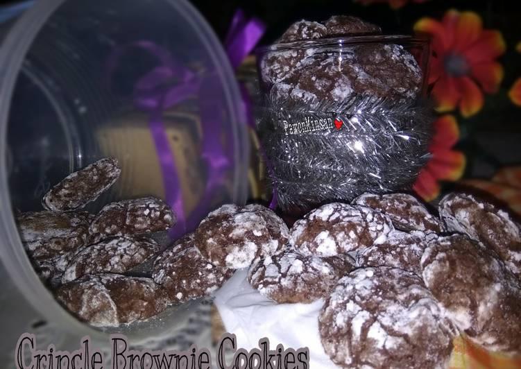 Crincle Brownie Cookies