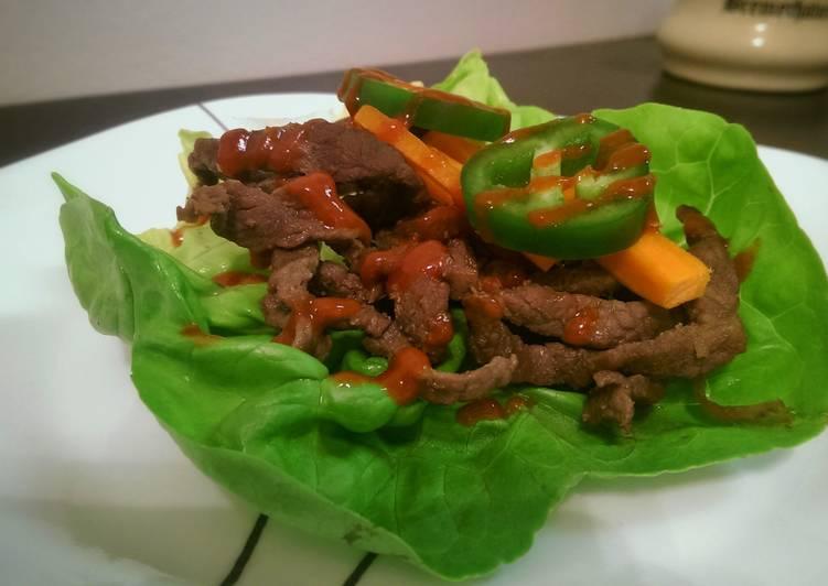 Easiest Way to Make Favorite Bulgogi Lettuce Wraps