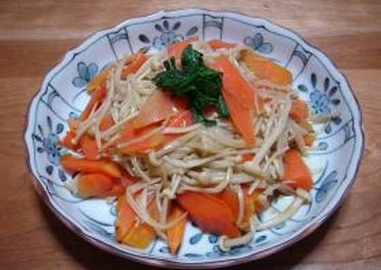 Your Health Can Be Effected By The Foods You Decide To Eat Quick Enoki Mushroom & Carrot Stir-Fry