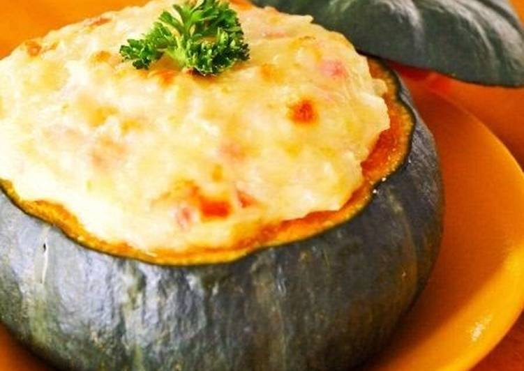 Recipe of Award-winning Halloween Kabocha Squash Au Gratin