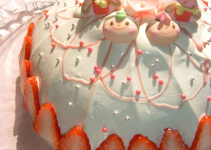 For Girls' Day Festival Hishimochi-style No-Bake Cheese Cake