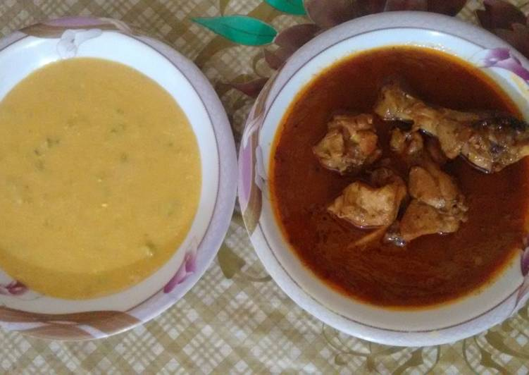 Chicken and kadhi salan pathan cultural recipe