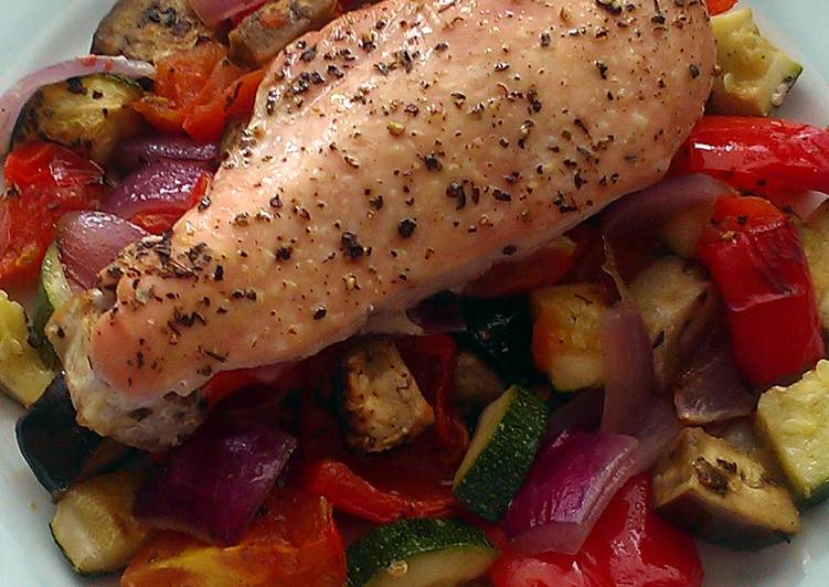 Vickys Roast Chicken Ratatouille, GF DF EF SF NF