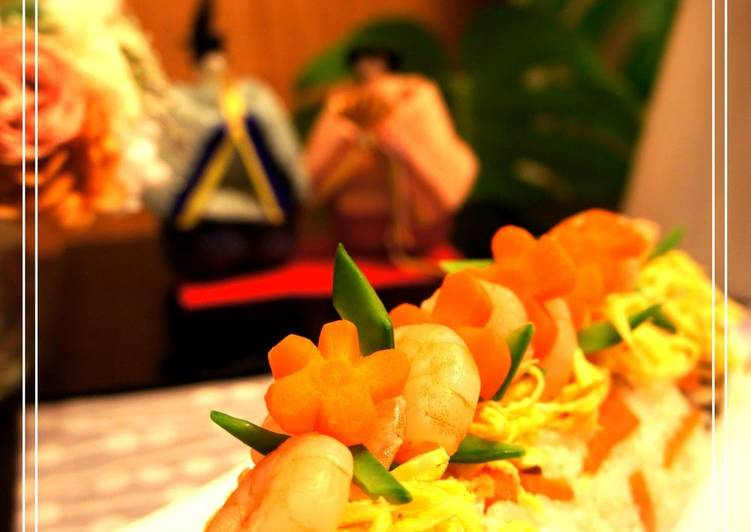 Doll Festival Chirashi Sushi Made Easy with Plastic Wrap