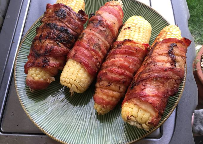 Easiest Way to Cook Yummy Bacon Wrapped Corn On The Cob