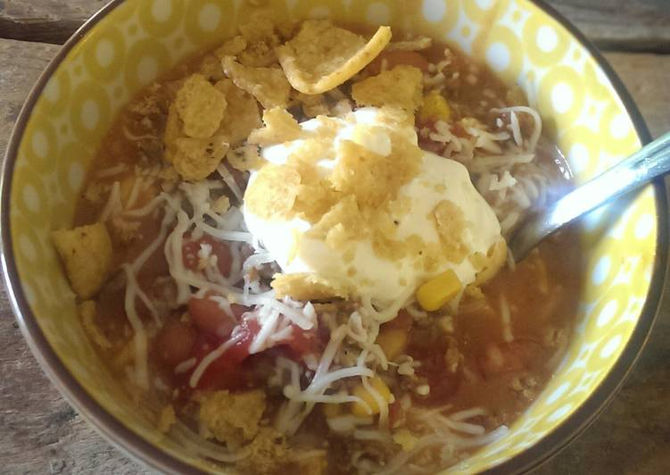 Chastain's taco soup