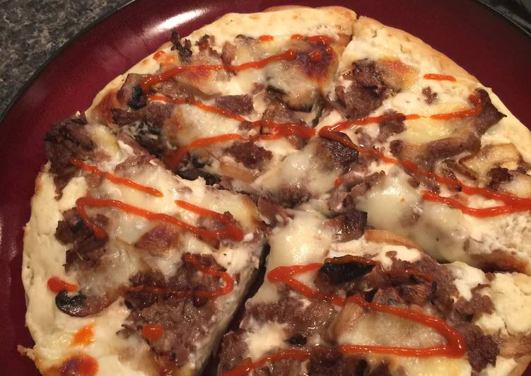 Easiest Way to Make Homemade Philly Cheesesteak Pan Pizza