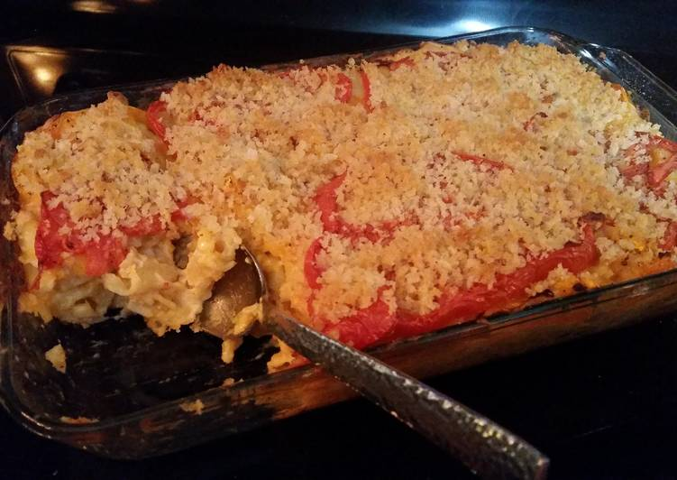 Easiest Way to Make Baked Mac and Cheese with tomatoes