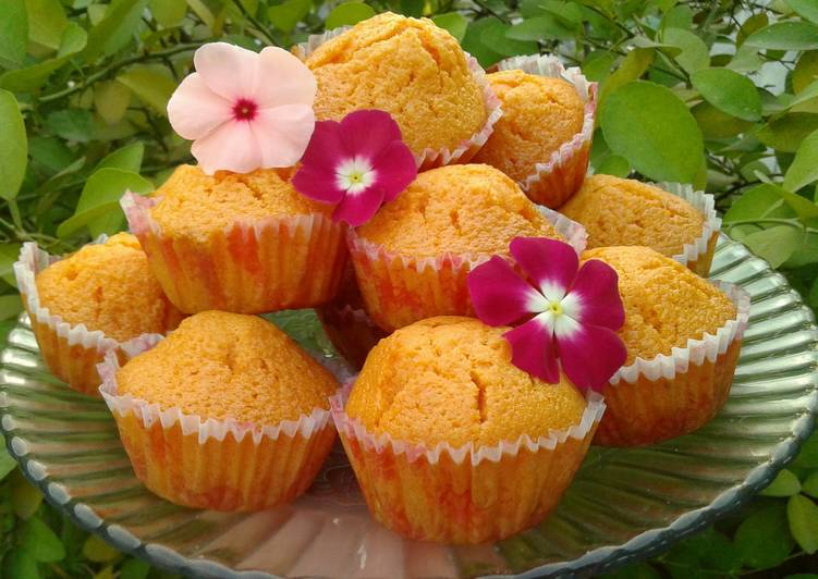 Step-by-Step Guide to Make Favorite T's simply sunny orange cupcakes