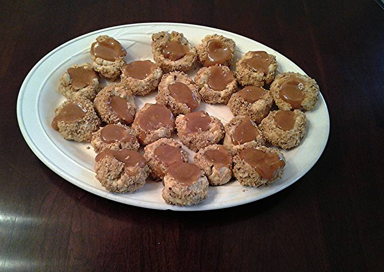Caramel-Nut Thumbprint Cookies
