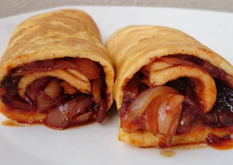 Recipe: Perfect Spicy Onion Omelette Roll