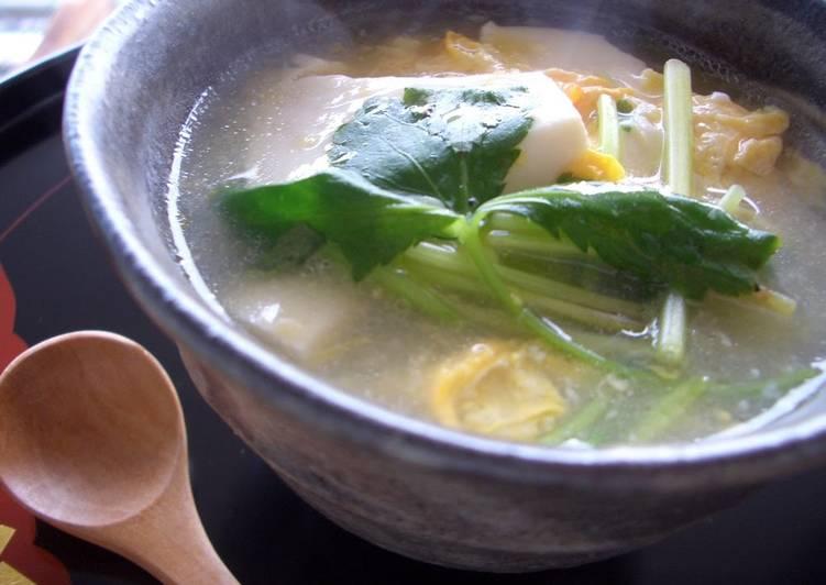 Chinese-style Tofu and Pork in Scrambled Egg