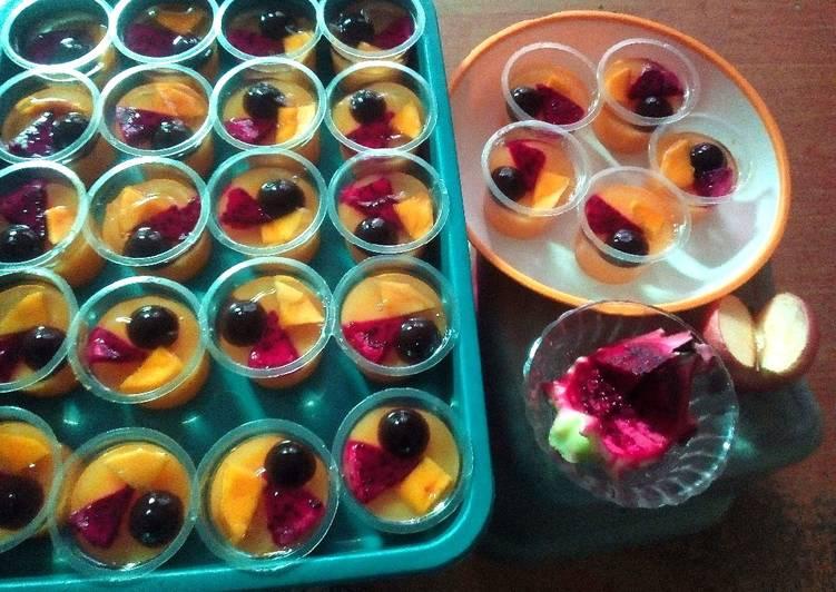 Resep Puding Buah Cup Oleh Siti Mufarroha Cookpad