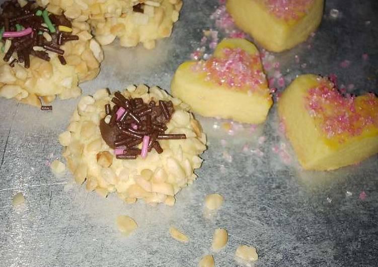 Peanut and Pink Sugar Cookies
