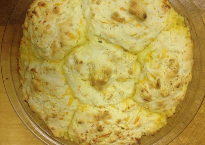 Recipe: Delicious MamaLocks Easy Cheddar Onion Biscuits