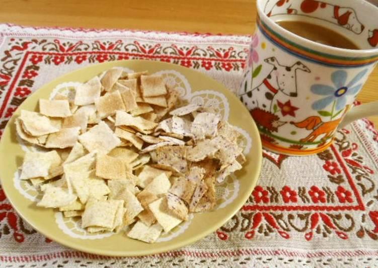 Low-cal Okara Cookies in a Microwave
