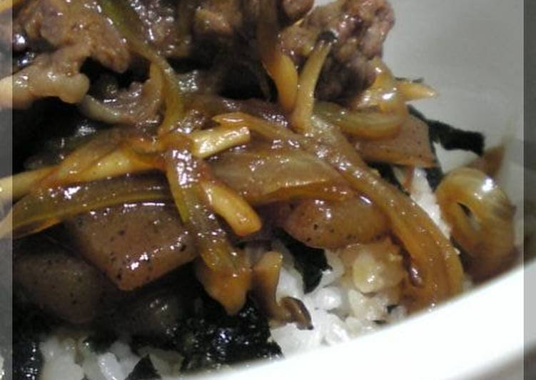 Beef Rice Bowl With Yuzu Pepper Paste - Laurie G Edwards
