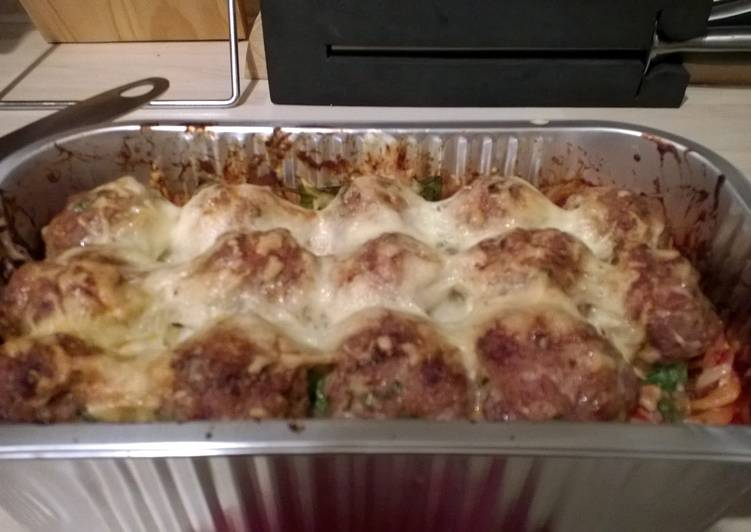 Recipe of Any-night-of-the-week Pasta Meatball Bake