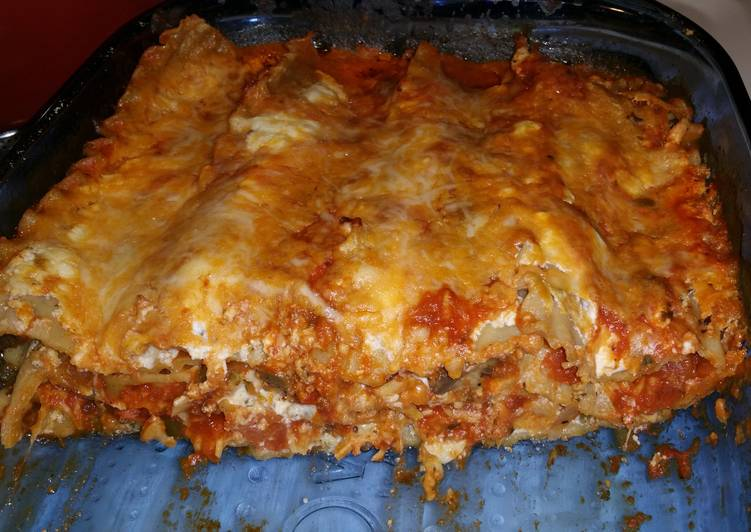 Zesty meatless lasagna