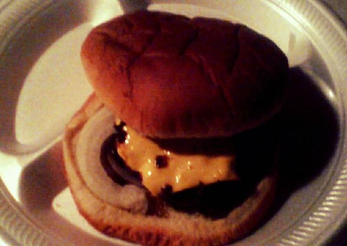 Ground Round Cheesy Burger